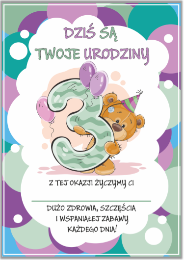 Dyplom Urodzinowy 3 Latka Format A5 Szkolnenaklejki Pl Children Smurfs Character