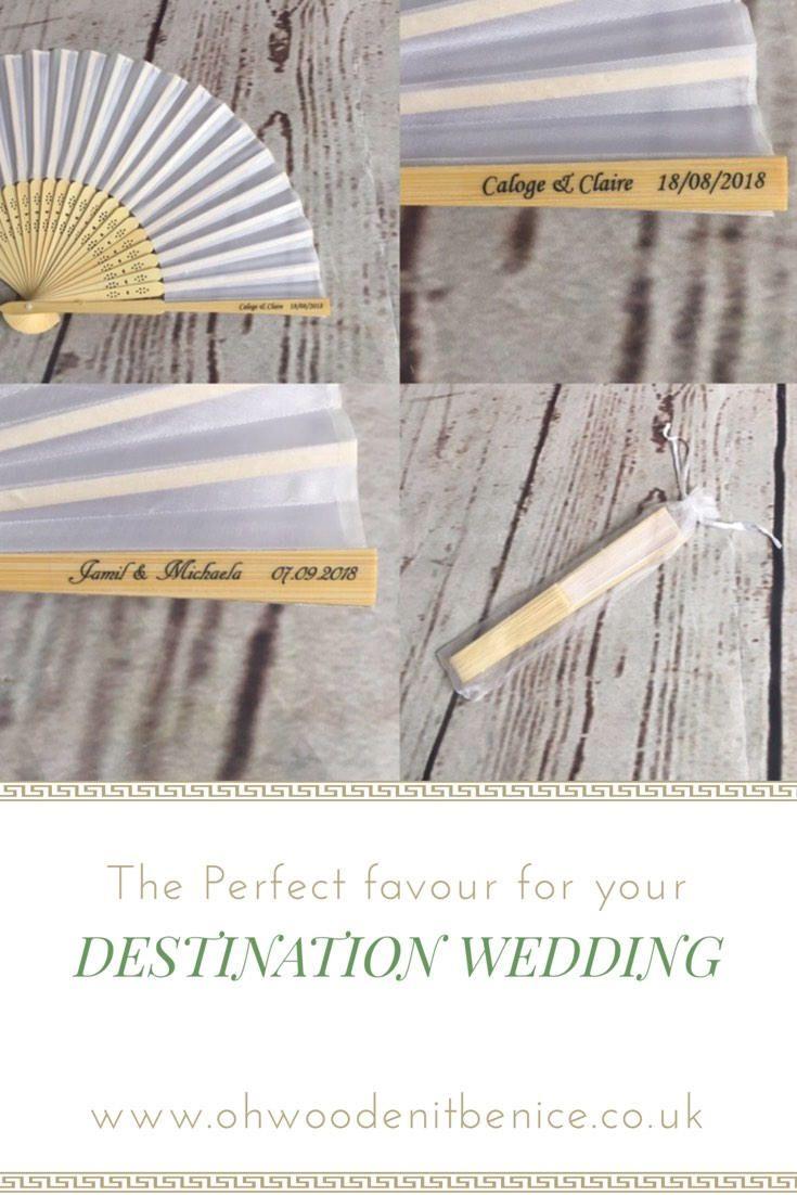 100 pack Personalised wedding favours; personalised wedding fan ...