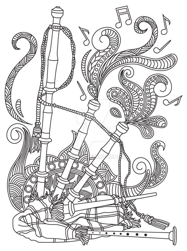 Gst Kolorowanka Muzyka 10 Podgld By Quamiya Music Coloring Sheets Coloring Books Zentangle Drawings