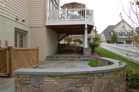 Nice Under Deck Patio Ideas With Special Construction Using An Under Deck  Drainage System The Area Beneath