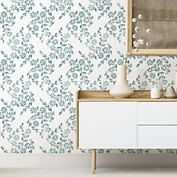 Nuwallpaper Teal Pomfret Peel Stick Wallpaper The Home Depot Canada Stick On Wallpaper Peal And Stick Wallpaper Peel And Stick Wallpaper