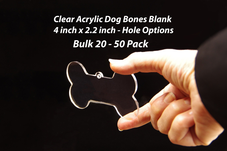 50 Acrylic Dog Bones Blank Clear Acrylic Shapes Charms Dog Lover Ornaments Acrylic Dog Bone Keychain Acrylic Vinyl Blanks 4 L As16 Vinyl Blanks Clear Acrylic Acrylic Shapes