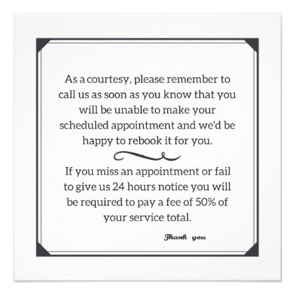 Cancellation Policy Card Invitations Custom Unique Diy