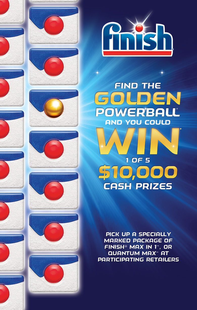 Finish golden powerball contest win 10000 5 prizes