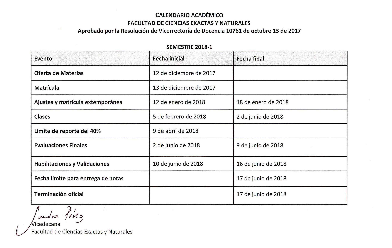 Calendario Financiero Uniminuto 2019 2.Calendario 2018 1 Calendario Academico Calendario 2018