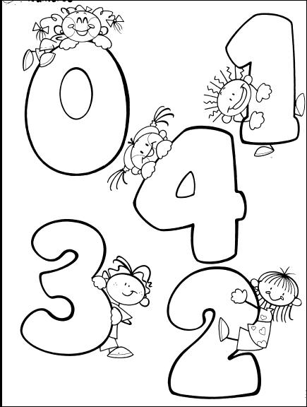 TE CUENTO UN CUENTO: Números del 0 al 9 para colorear | Alphabet ...