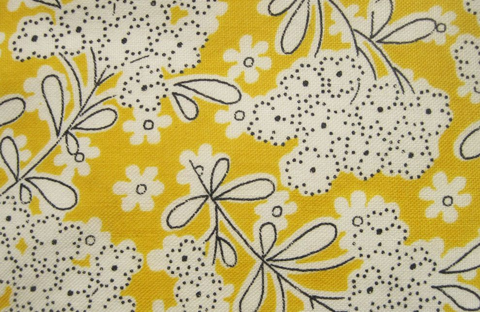 Blog Archive Vintage Fabric Gallery 1930s Yellows Vintage Fabric Prints Vintage Textiles Printing On Fabric