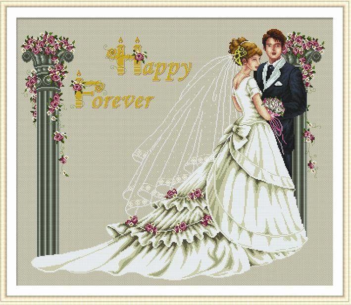 Free Wedding X Stitch Patterns | cross stitch kit wedding 11CT-in ...