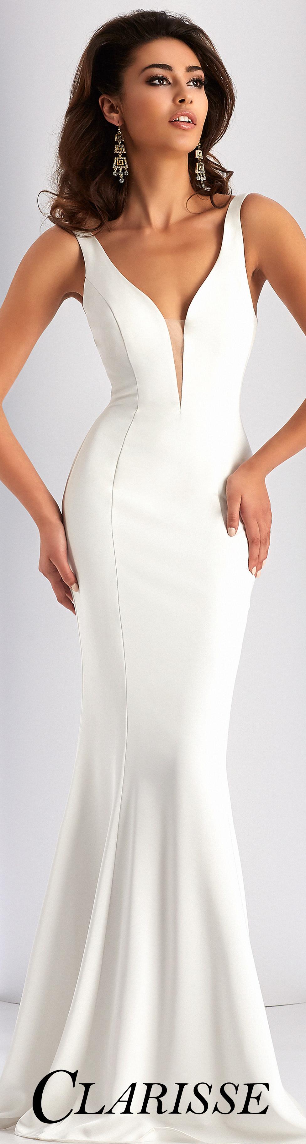 Clarisse prom dress simple sleeveless stretch satin dress with