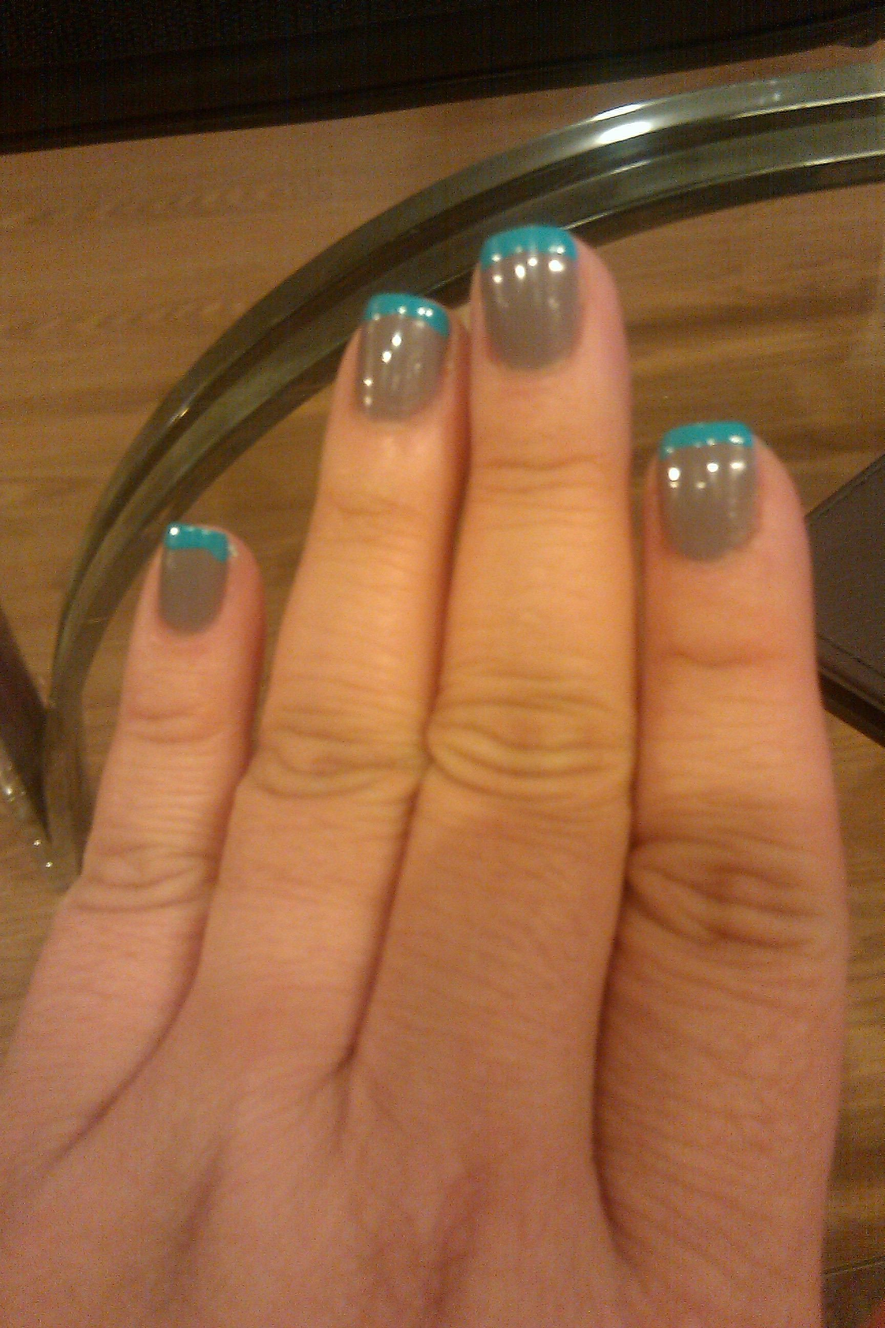 Essie Chinchilly with Kiss Nail Art Paint Turquoise | I Gotta Get Me ...