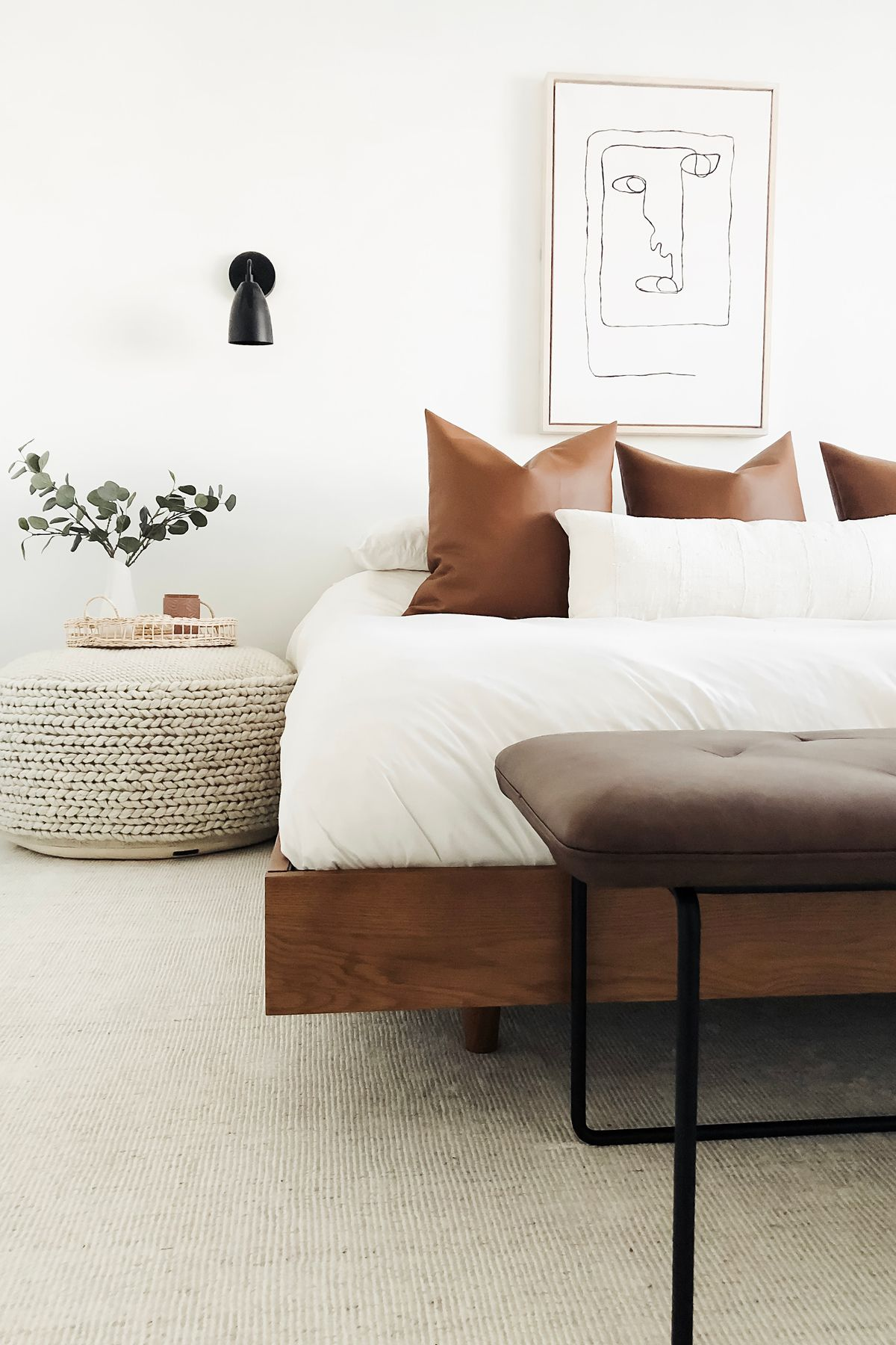 Basi Walnut Queen Bed Frame In 2020 Minimalist Bed Simple Bed
