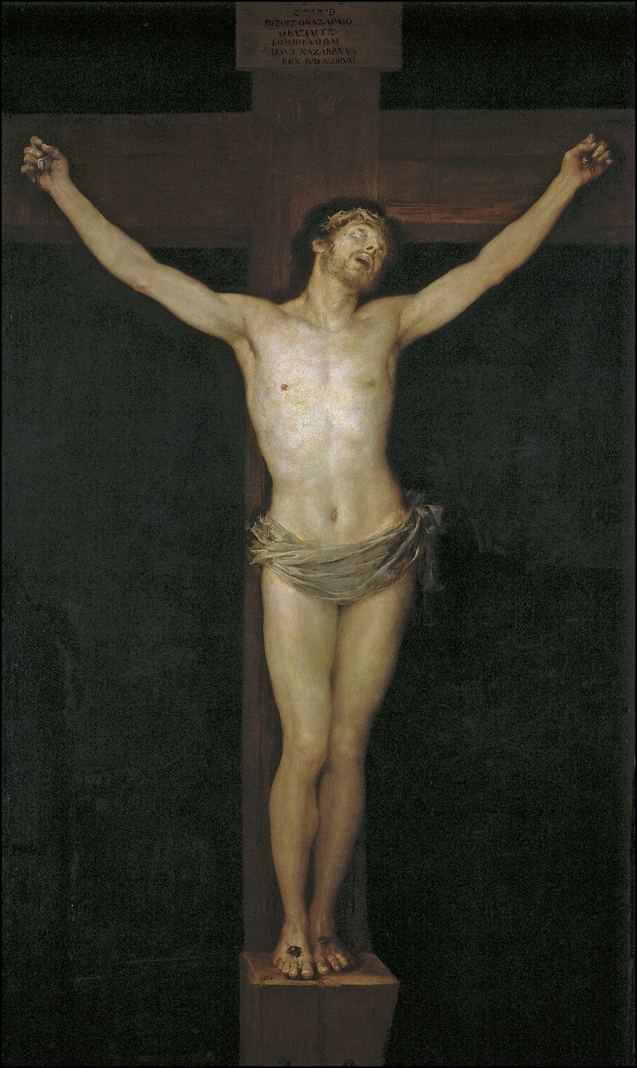 "Francisco de Goya: ""Cristo crucificado"". Oil on canvas, 255 x 154 cm, 1780. Museo Nacional del Prado, Madrid, Spain"
