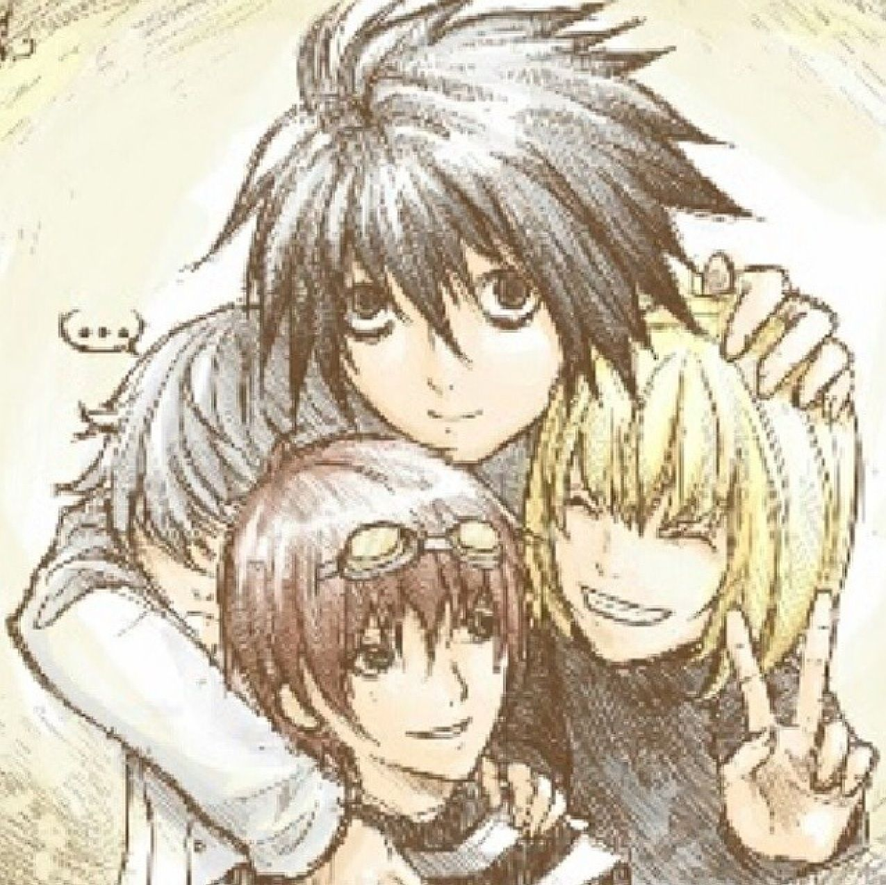 L, Near, Mello, and Matt growing up