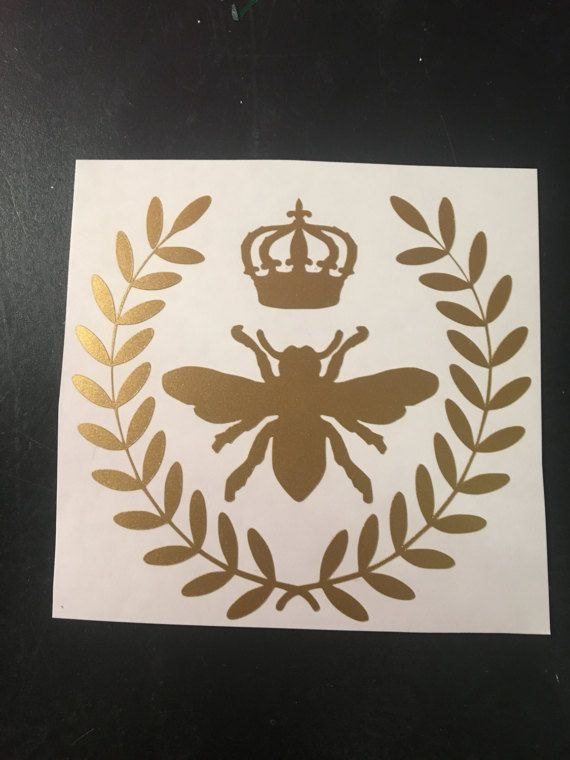 Queen bee vinyl decal car sticker gold stickers laptop