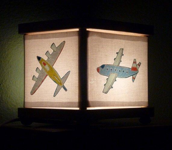 Airplane Night Light Decor Airplanes Lighting Nursery