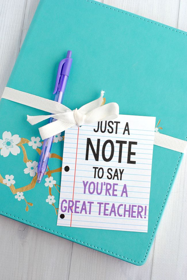 Cute Creative Note Gift Idea For Birthdays Or Teacher Cadeau