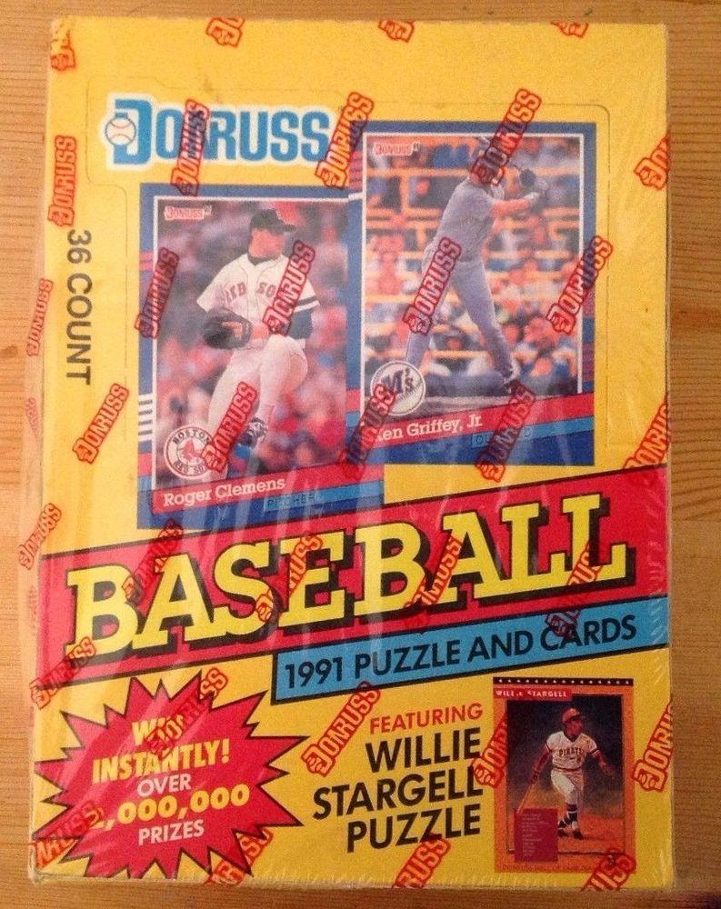 1991 donruss baseball card 36 count box baseball cards