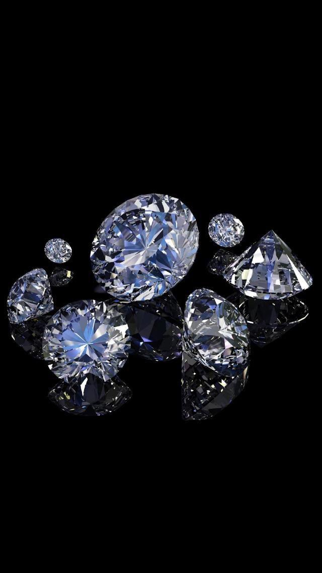 Wallpaper Iphone Diamond Wallpaper Diamond Gemstones