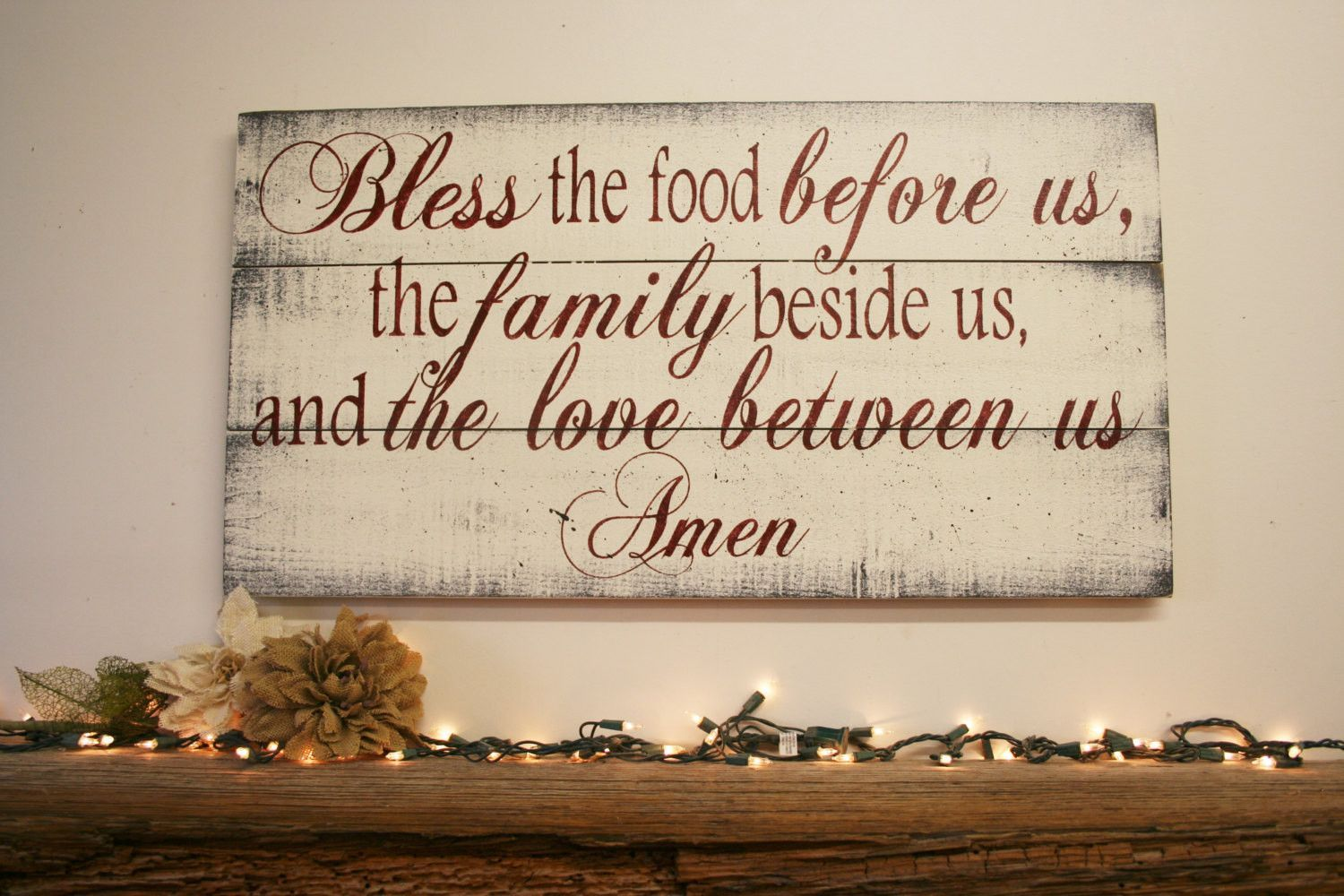 Bless the food pallet sign kitchen sign dining room decor