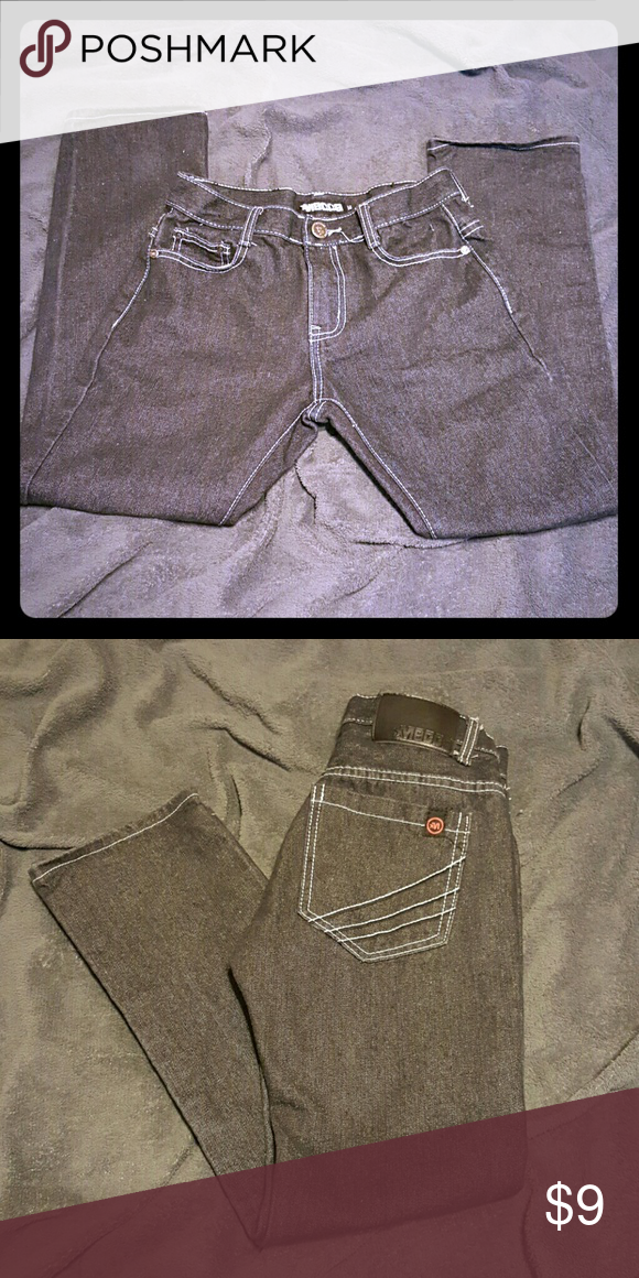 Black jeans Black Mecca jeans with white stitching in great condition Mecca Bottoms Jeans
