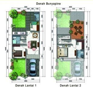 Desain Rumah 2 Lantai Minimalis Untuk Perumahan Tipe 35 Cek Bahan Bangunan