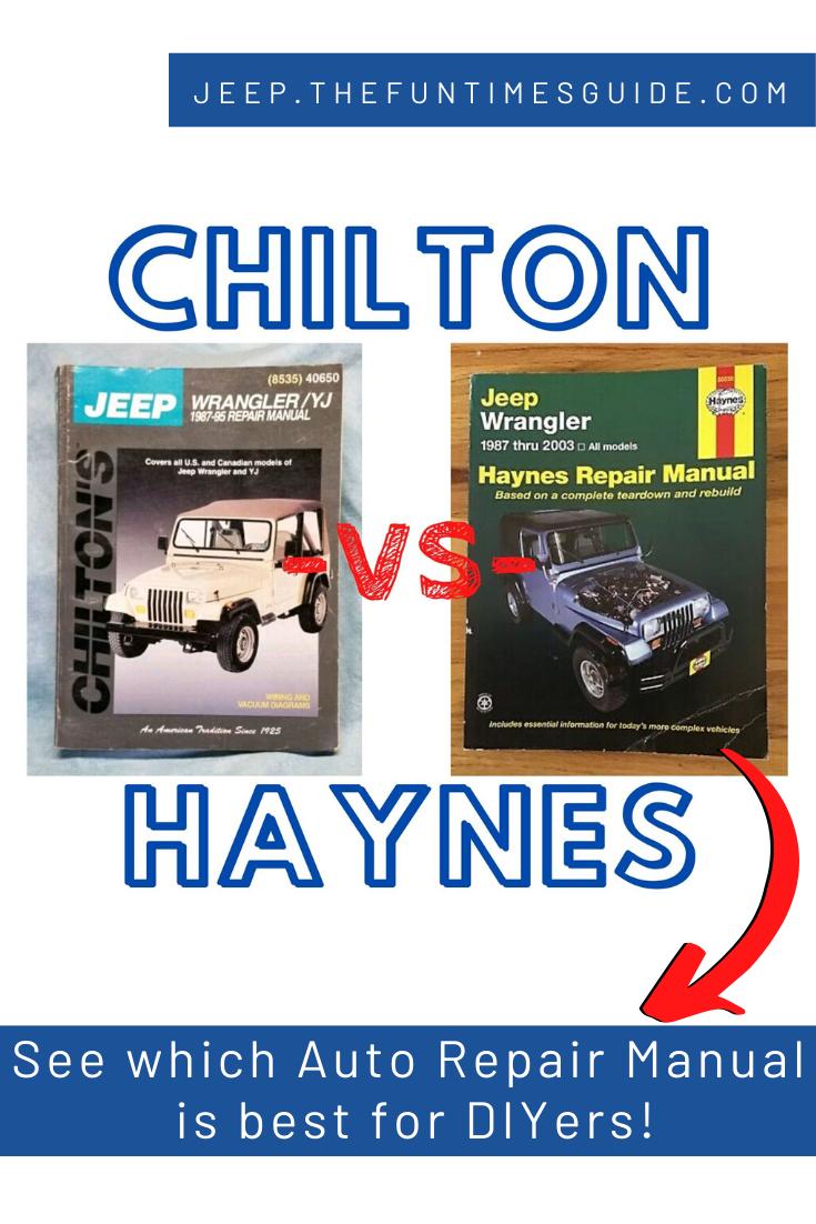 Chilton Vs Haynes Auto Repair Manuals Which Is The Best For Diyers Repair Manuals Auto Repair Chilton Repair Manual