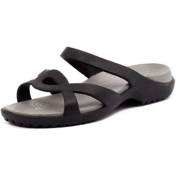b80dd56ba730 Crocs Meleen Twist Sandal Black Smoke ( 34) ❤ liked on Polyvore featuring  shoes