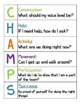 champs classroom management plan template Found on Google from pinterest.com | school stuff | Pinterest ...