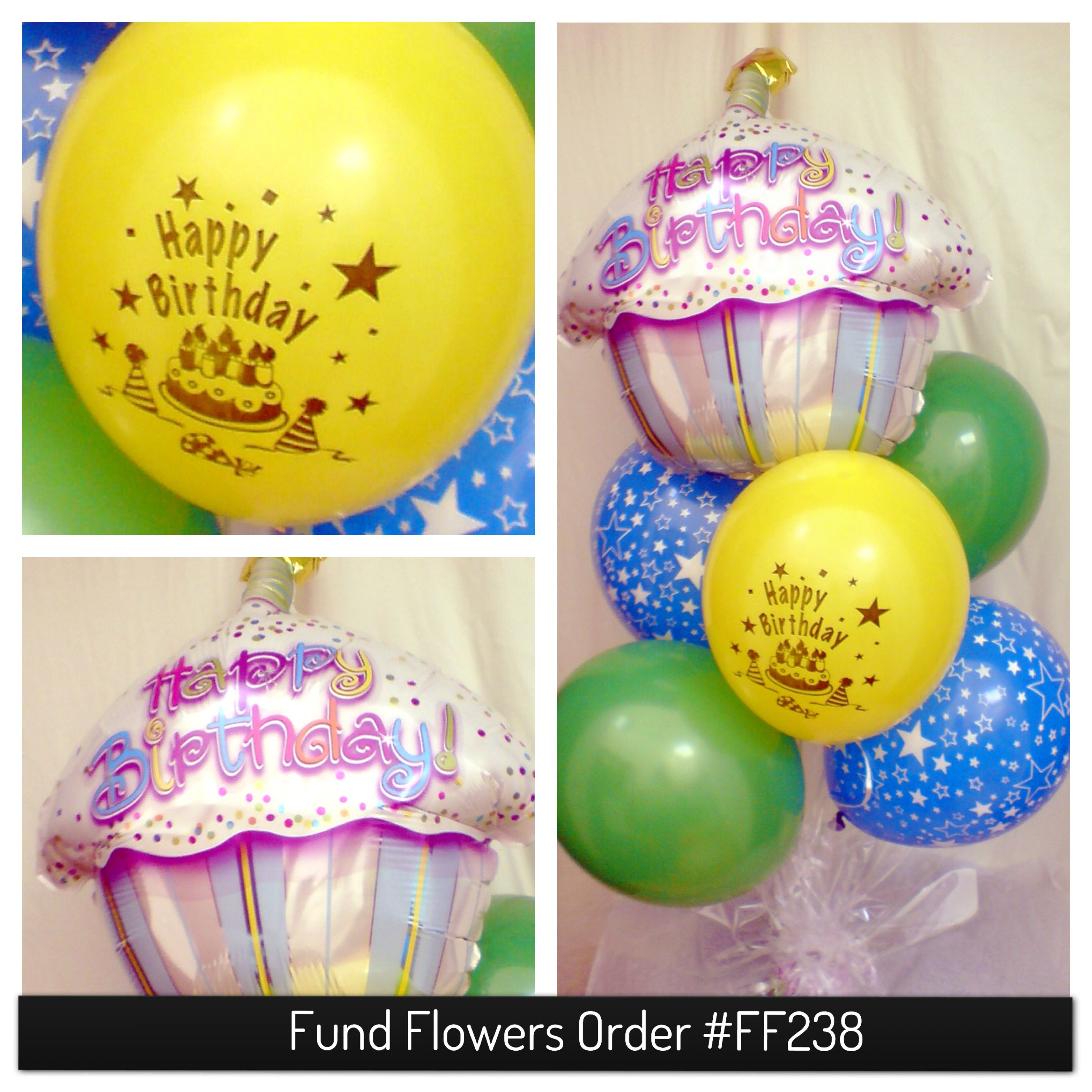 """""""Happy Birthday"""" Balloon Bouquet. The balloons for this"""
