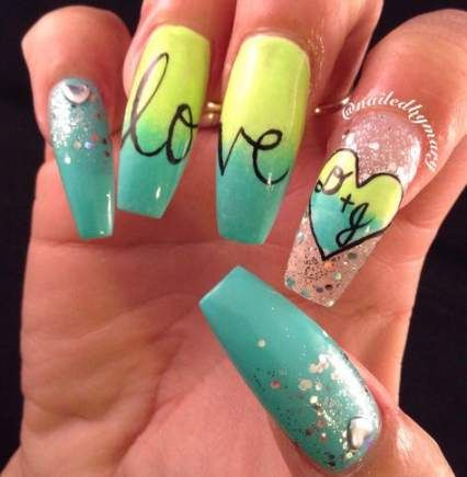38 trendy nails long coffin valentines nails