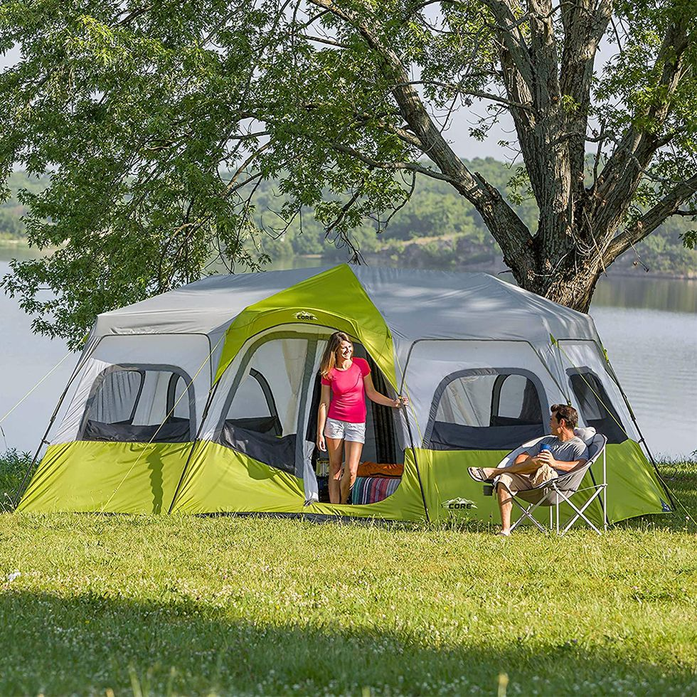 This Giant Tent Has 3 Rooms And Can Fit 12 People So It S Time To Plan A Camping Trip 12 Person Tent Family Tent Camping Cabin Tent