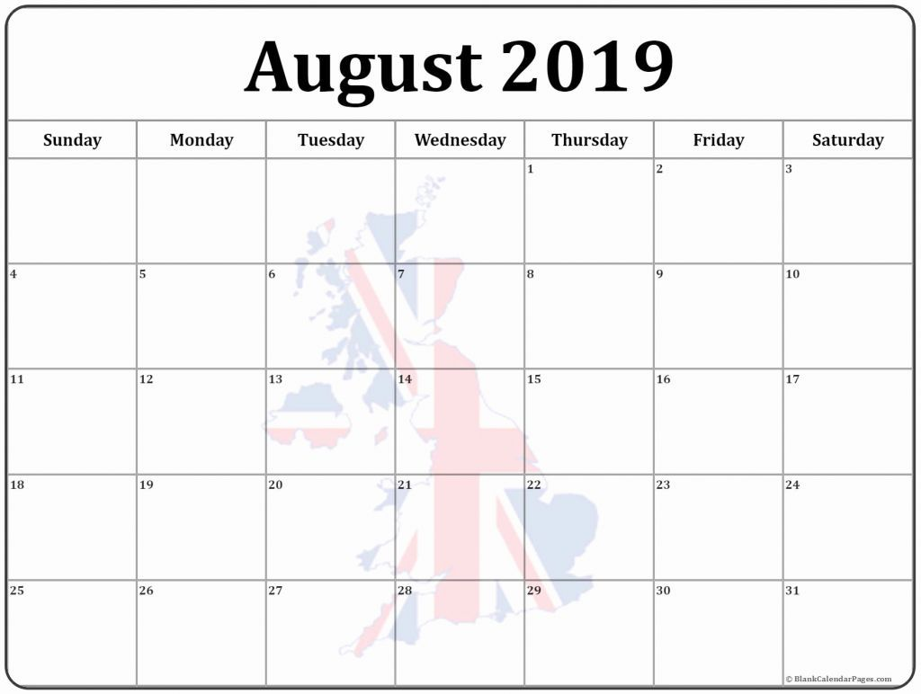 August 2019 Calendar Calendar Template Photo Calendar 2019