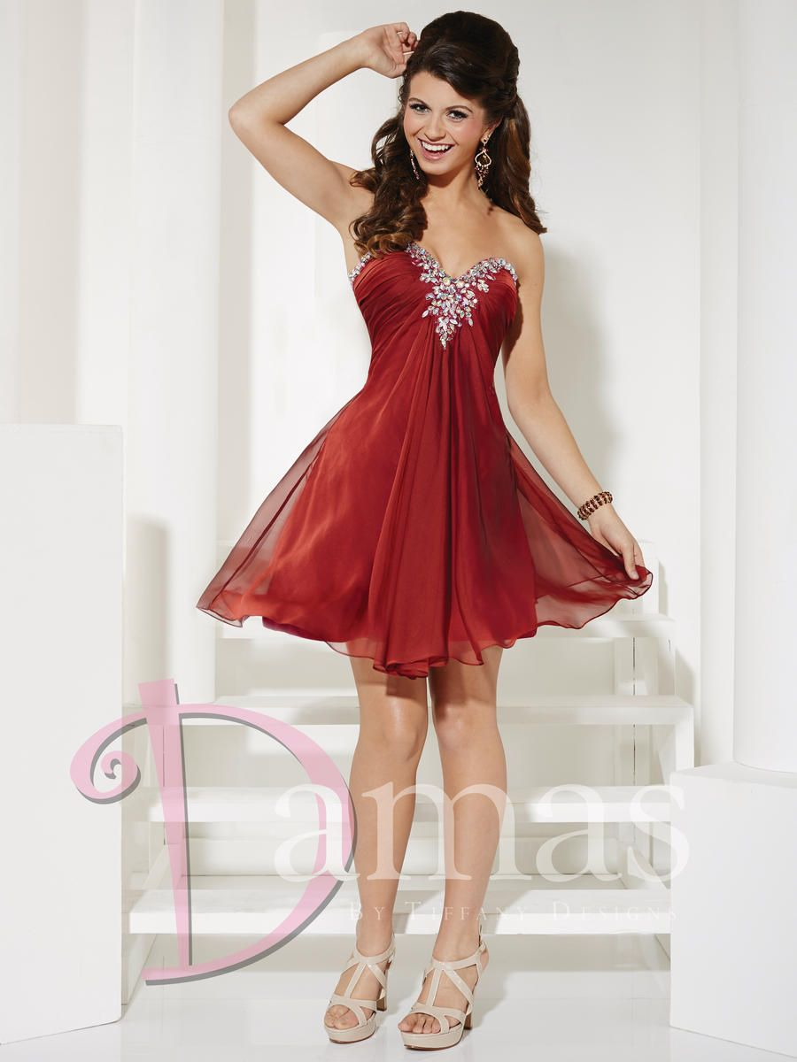 Available at spotlight formal wear short chiffon dama dress short