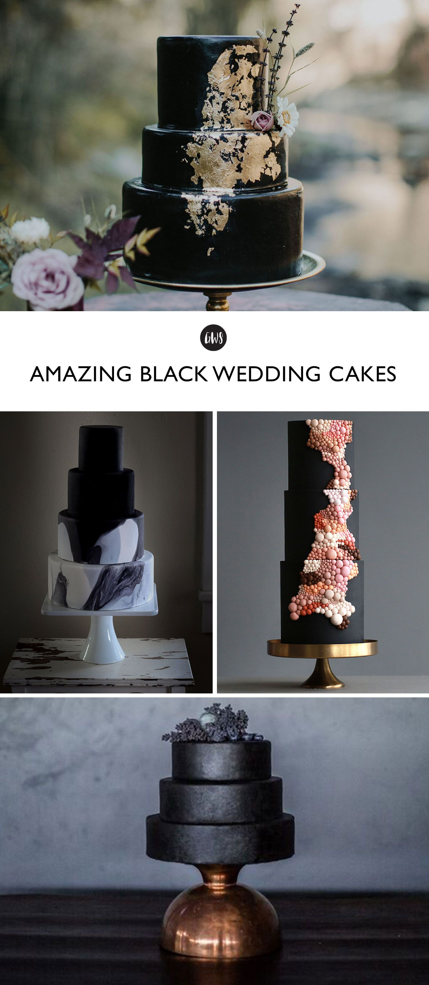 Tshivenda traditional wedding decor   of the Most Chic  Unexpected Black Wedding Cakes  cake deco