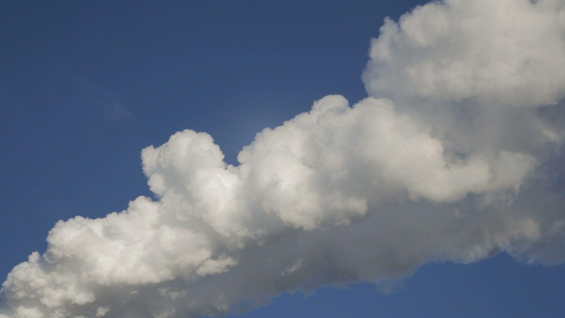 White Smoke In The Blue Sky Stock Footage Blue Smoke White