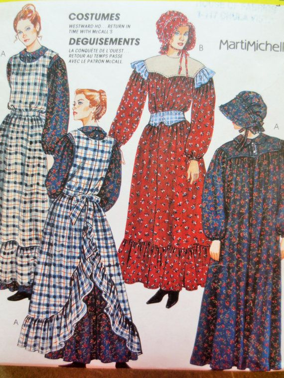 Vintage McCall\'s 7198 Sewing Pattern, Pioneer Costume Pattern ...