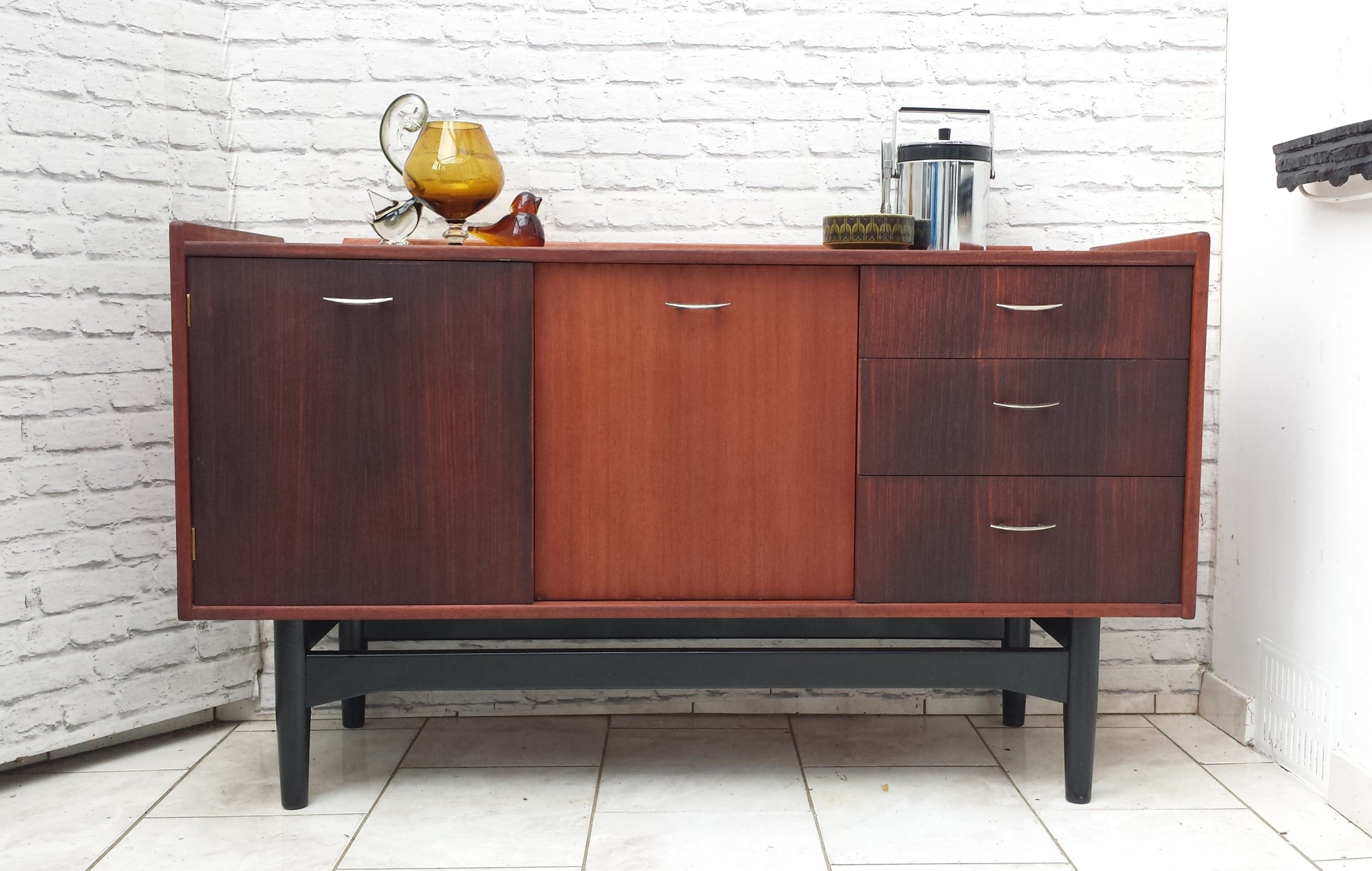 White And Newton Mid Century Sideboard Cocktail Cabinet Teak