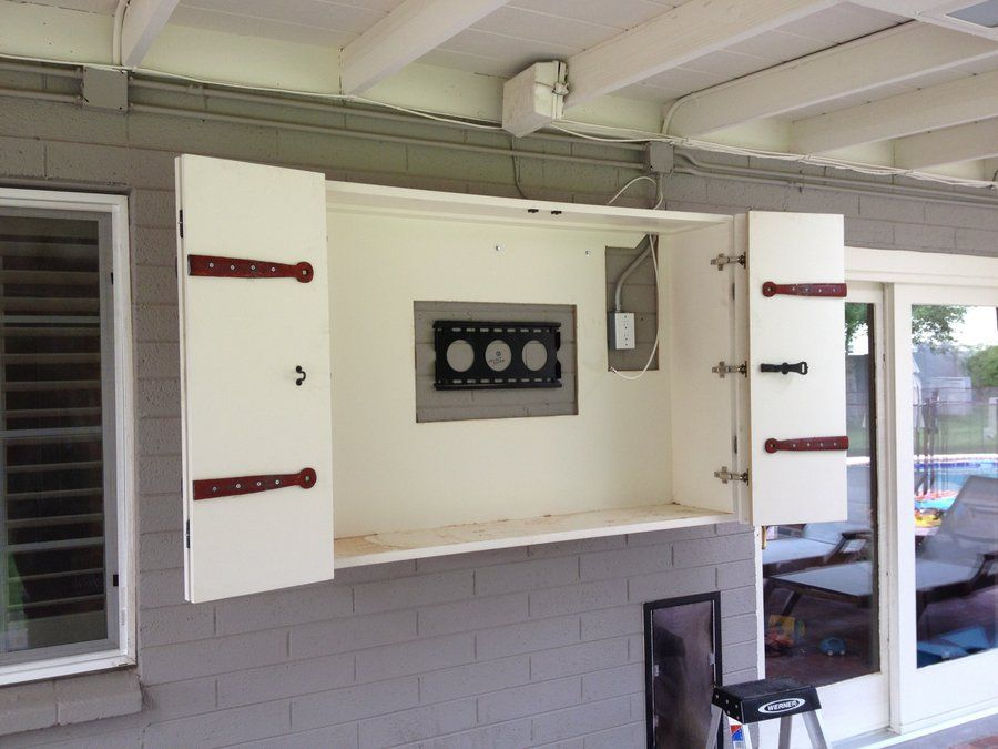 Information On The Outdoor TV Cabinet : How To Build A Outdoor Tv Enclosure.