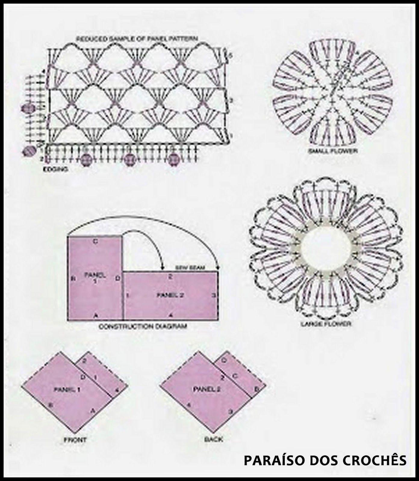 PONCHO DE CROCHÊ Modelo simples e fácil de fazer   Crochet Patterns ...