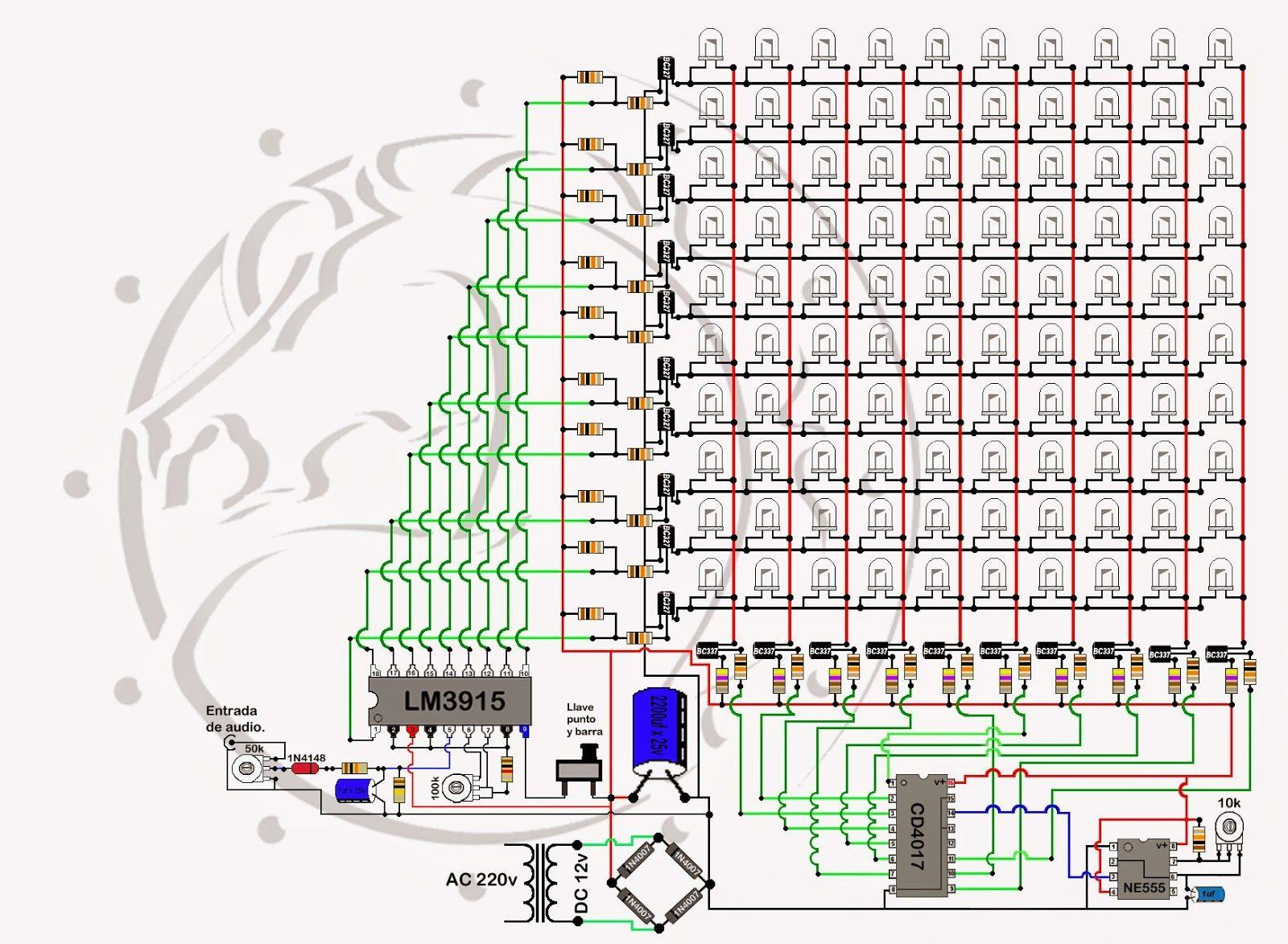 Vumetros A Led Descubre Los Secretos De Un Armado Exitoso Vumetro A Led Con E Analizador De Espectro Diseño De Circuitos Electrónicos Proyectos Eléctricos