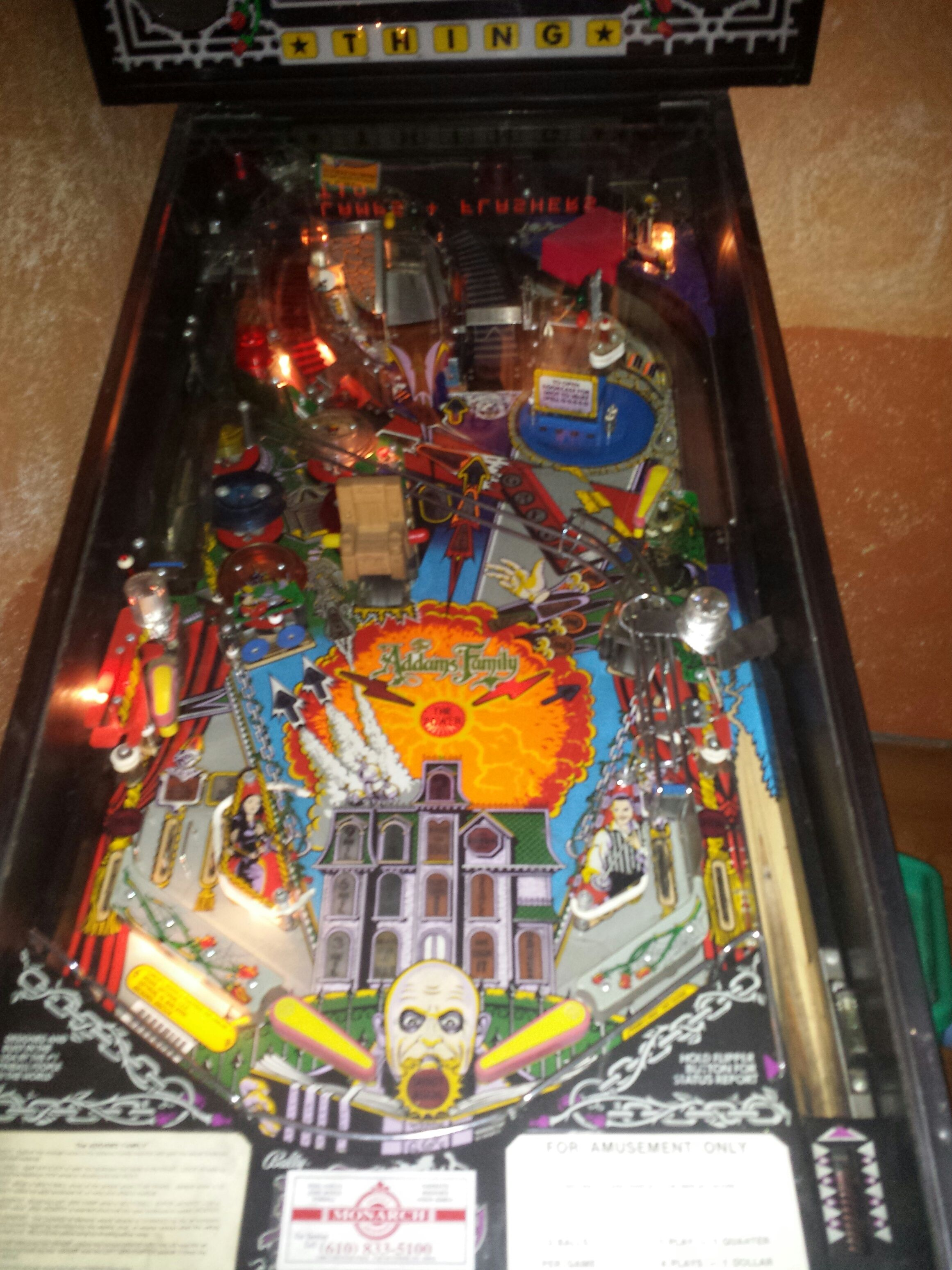 Addams Family pinball submitted for sale to http//www