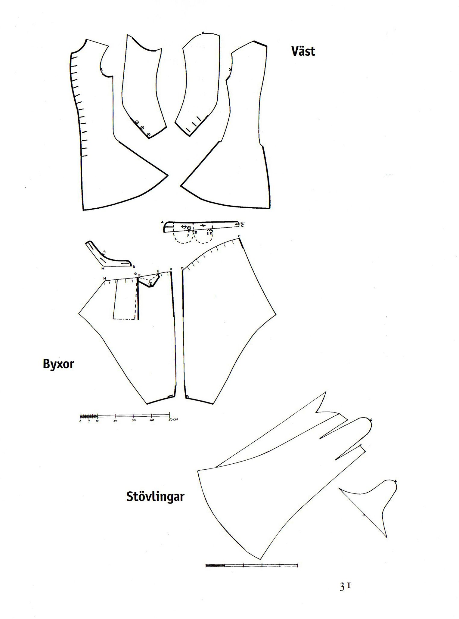 Patterns for the uniform of Charles XII og Sweden | PATRONES ...