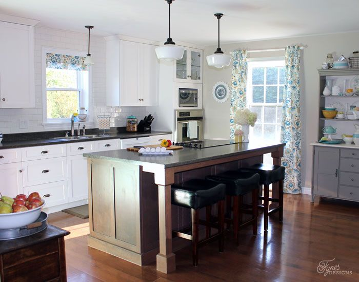 Modern Farmhouse Kitchen Color Palette From Voiceofcolor Fynes Designs Updated Her Traditional Into A Using Ppg Voice