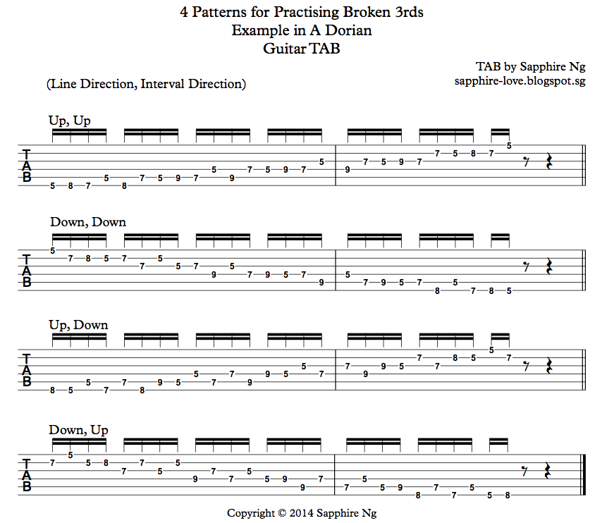 Sapphire Ng 4 Patterns For Practising Broken 3rds In A Dorian
