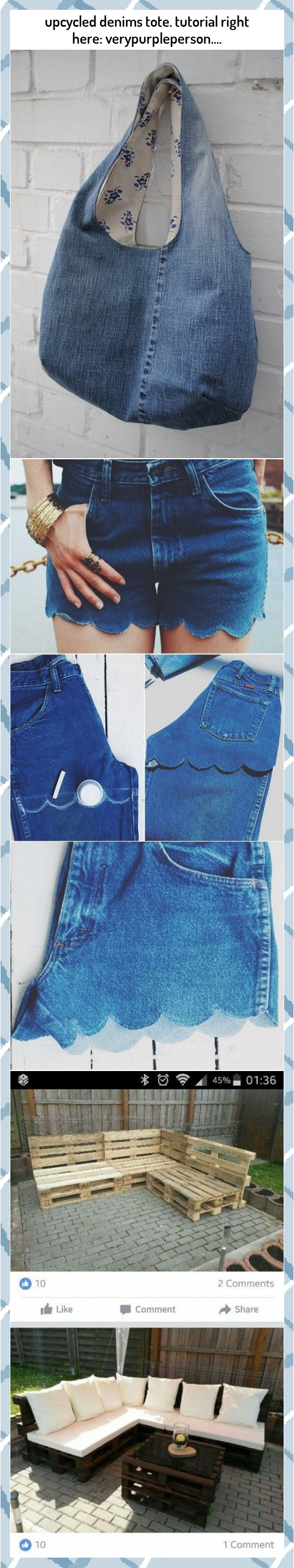 upcycled denims tote tutorial right here verypurpleperson