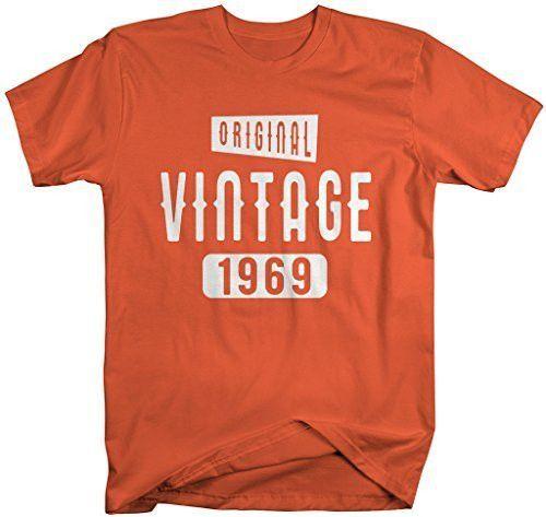 Shirts By Sarah Men's Original Vintage Birthday Year Shirts Made In 1969 T-Shirt