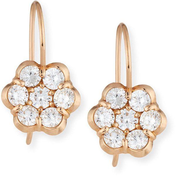 Bayco 18K Rose Gold & Diamond Floral Stud Earrings EjJb4n4Wxn