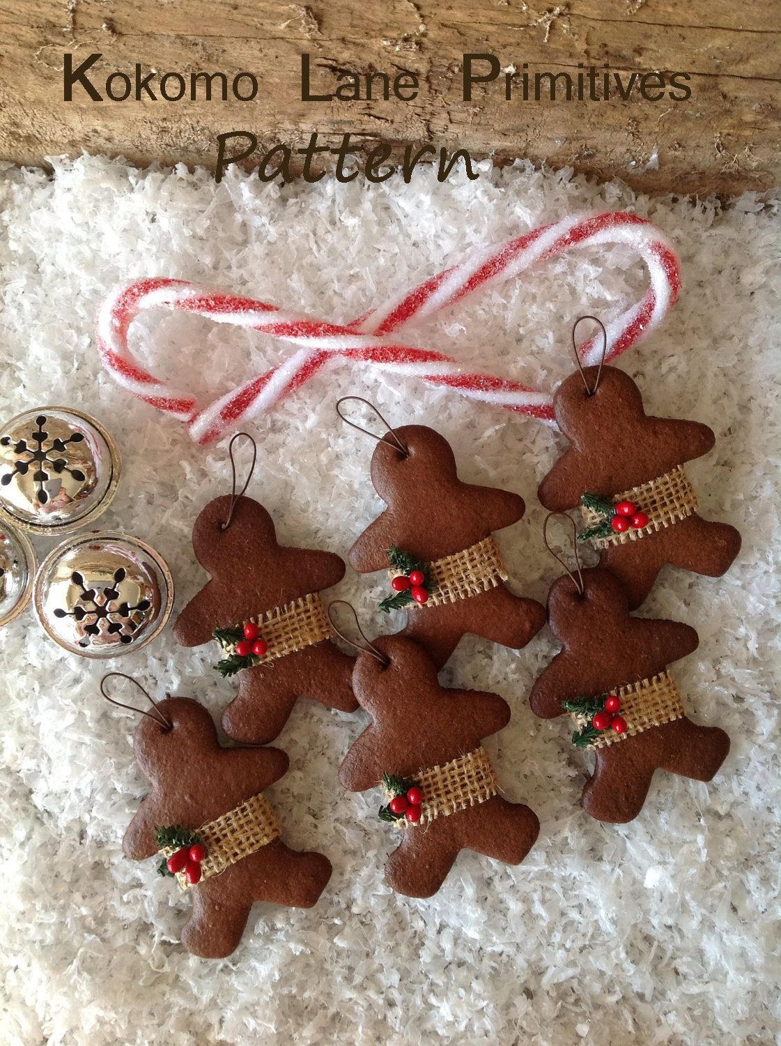Gingerbread man ornament craft - Gingerbread Men Ornament Craft E Pattern Pdf 105 By