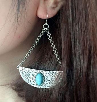 Spanish Moon Drop Bohemian Earrings