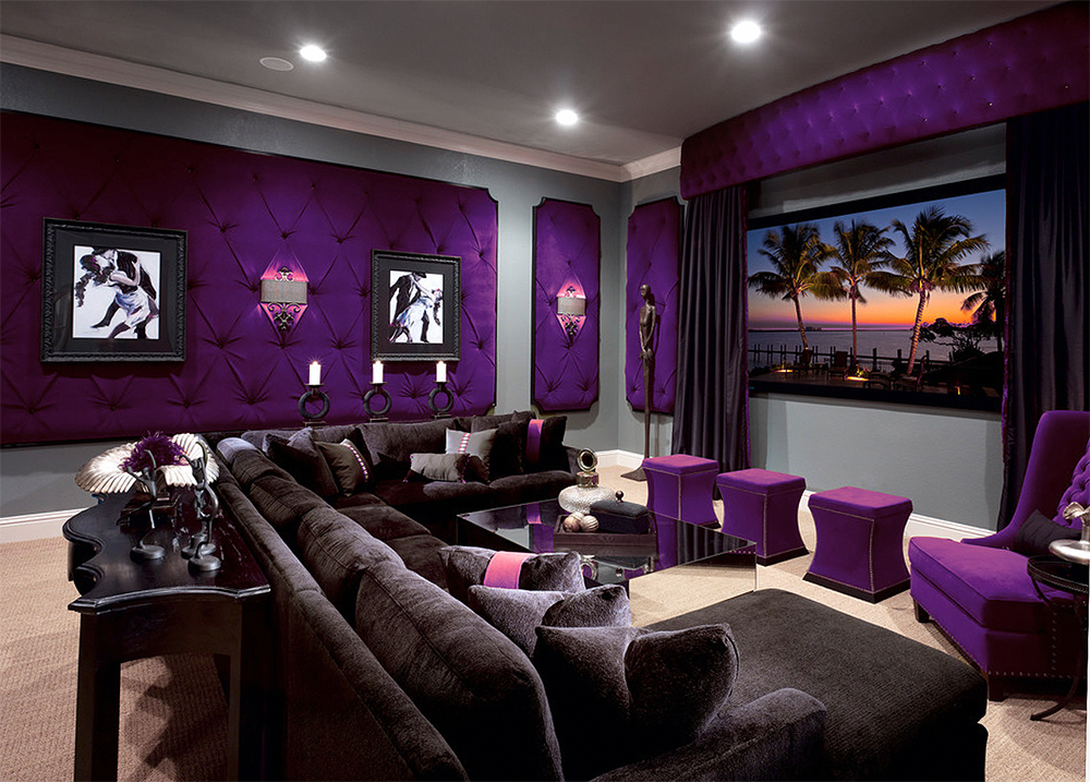 Astronaut images / getty images you may well have a general decorating style chosen for your entire. Beautiful Purple Media room decor home theater decor # ...